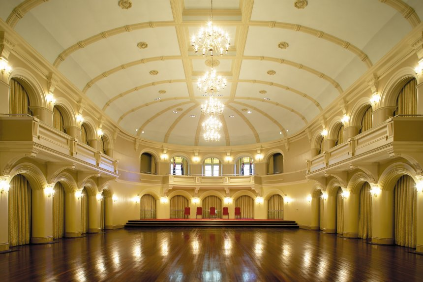 Government house ballroom griffiths architects for Mansion floor plans with ballroom